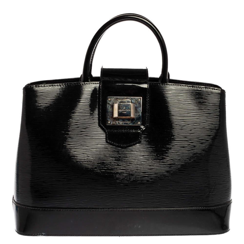 Louis Vuitton Black Electric Epi Leather Mirabeau GM Bag