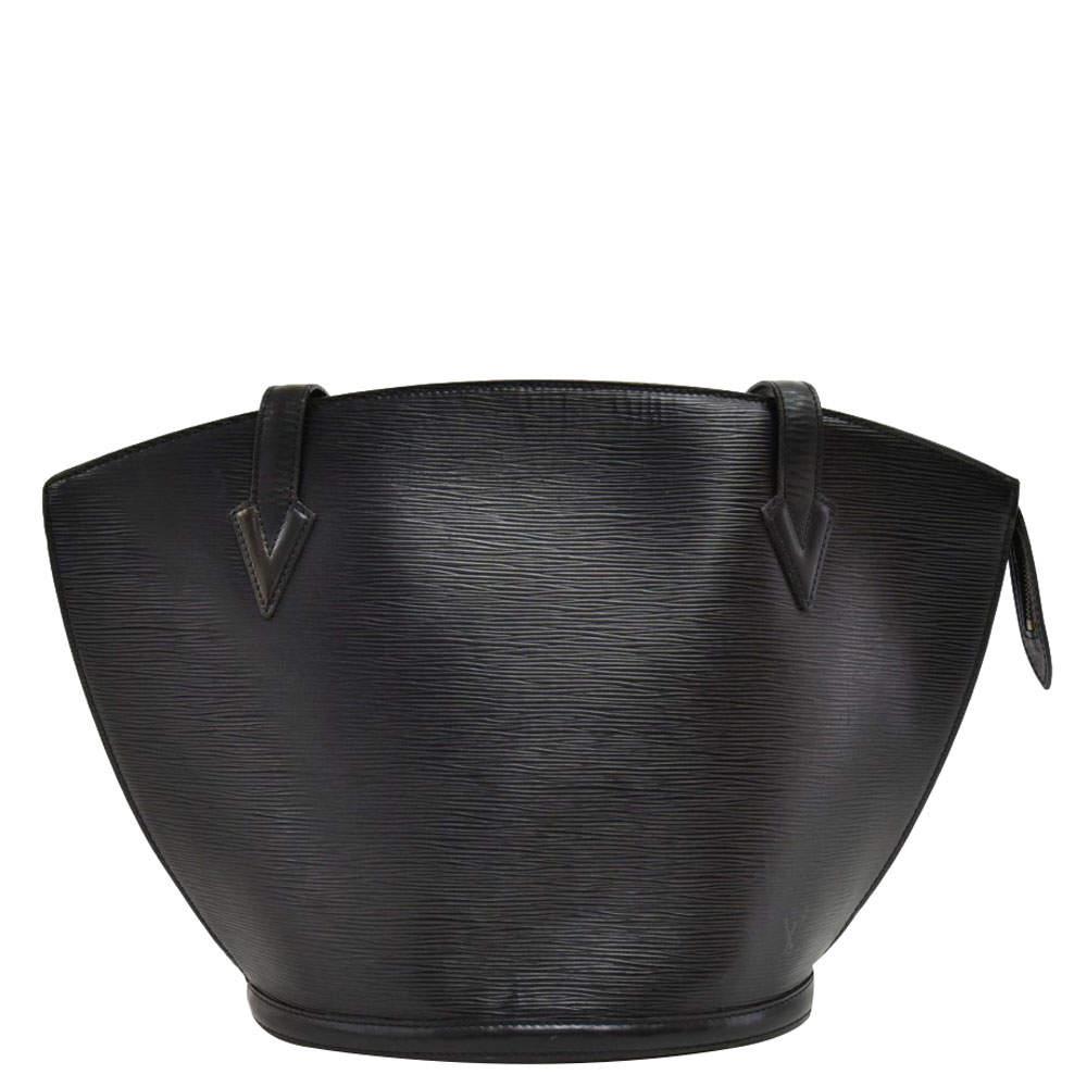 Louis Vuitton Black Epi Leather Saint Jacques GM Bag