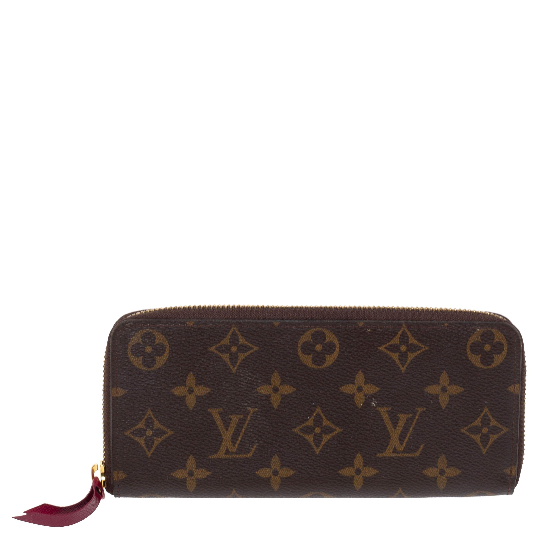 Louis Vuitton Monogram Canvas Portefeiulle Clemence Zip Around Wallet