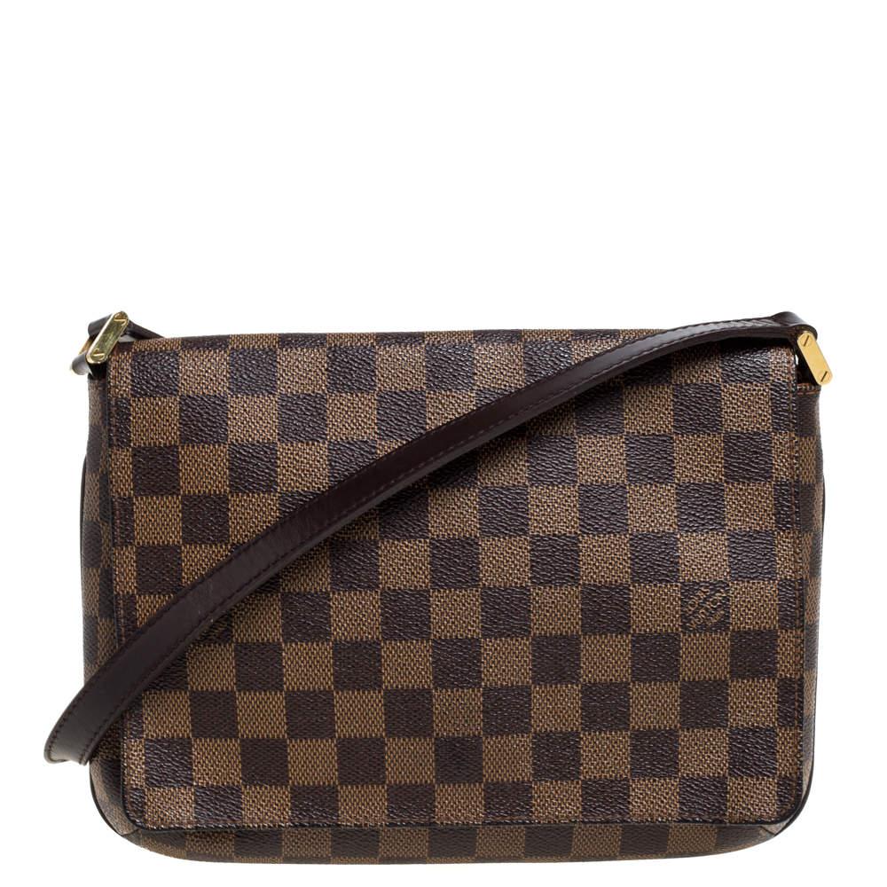 Louis Vuitton Damier Ebene Canvas Musette Tango Bag
