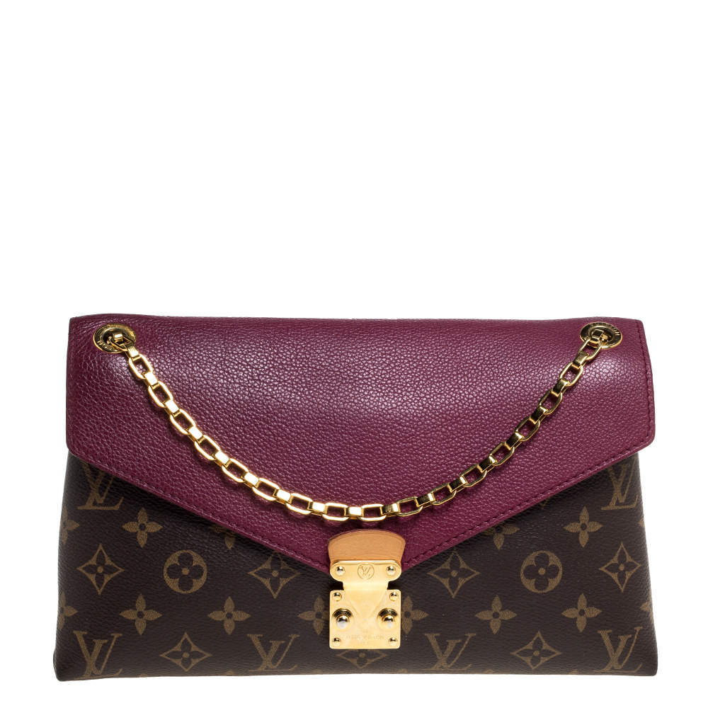 Louis Vuitton Aurore Monogram Canvas Pallas Chain Bag