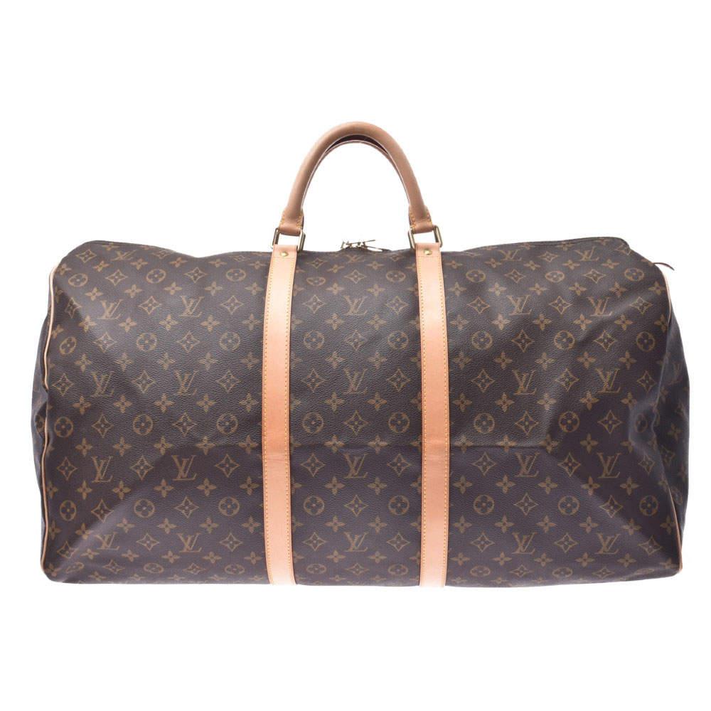 Louis Vuitton Brown Monogram Canvas Keepal 60 Bag
