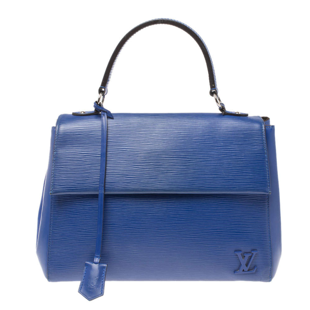 Louis Vuitton Blueberry Epi Leather Cluny MM Bag