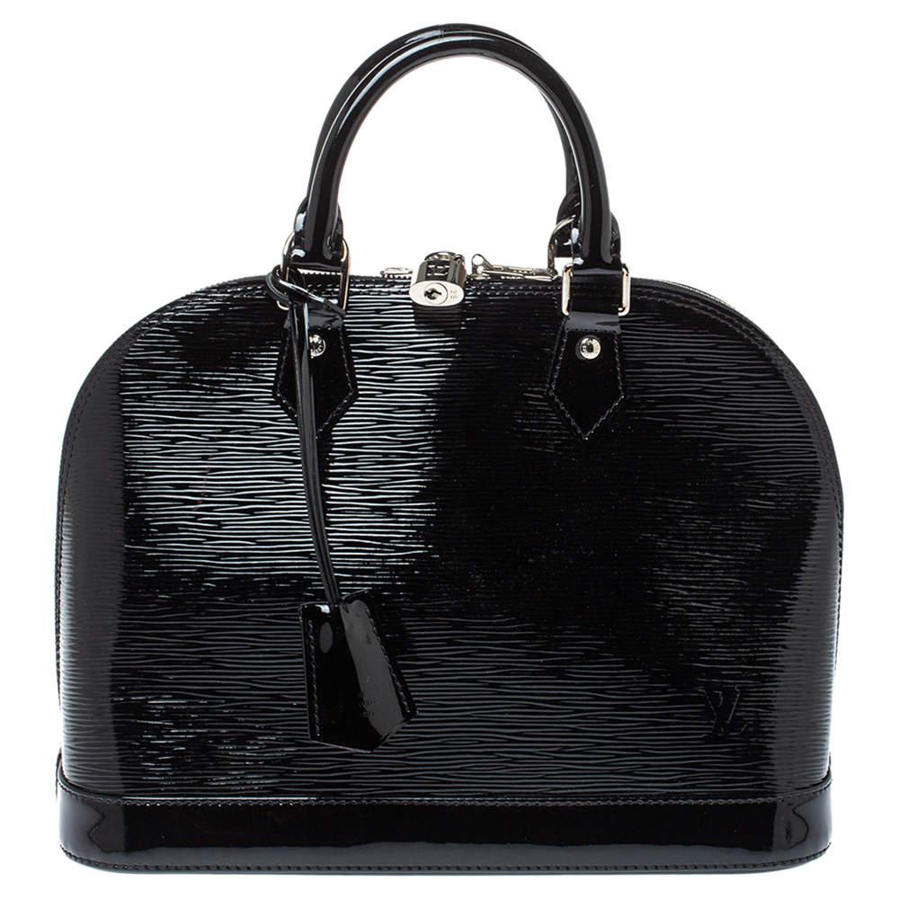 Louis Vuitton Black Electric Epi Alma PM Bag
