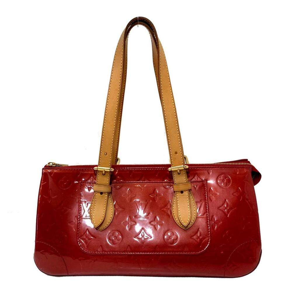 Louis Vuitton Red Monogram Vernis Rosewood Avenue Bag