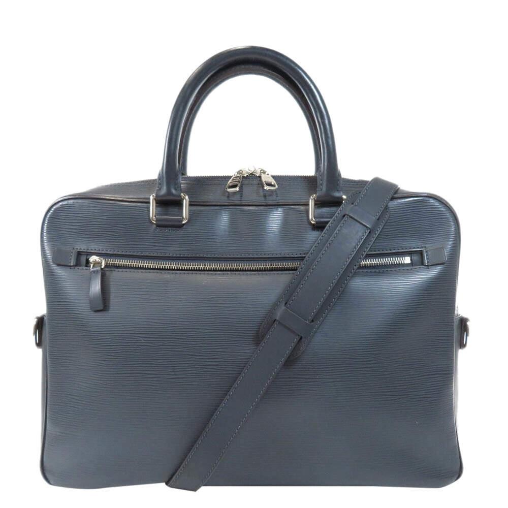 Louis Vuitton Black Epi leather Porte Documents bag