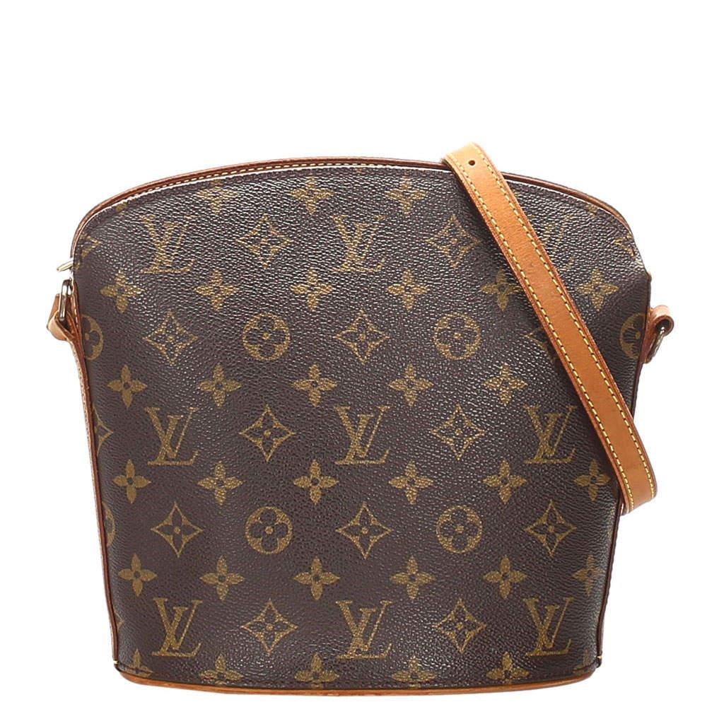 Louis Vuitton Brown Monogram Canvas Drouot Bag