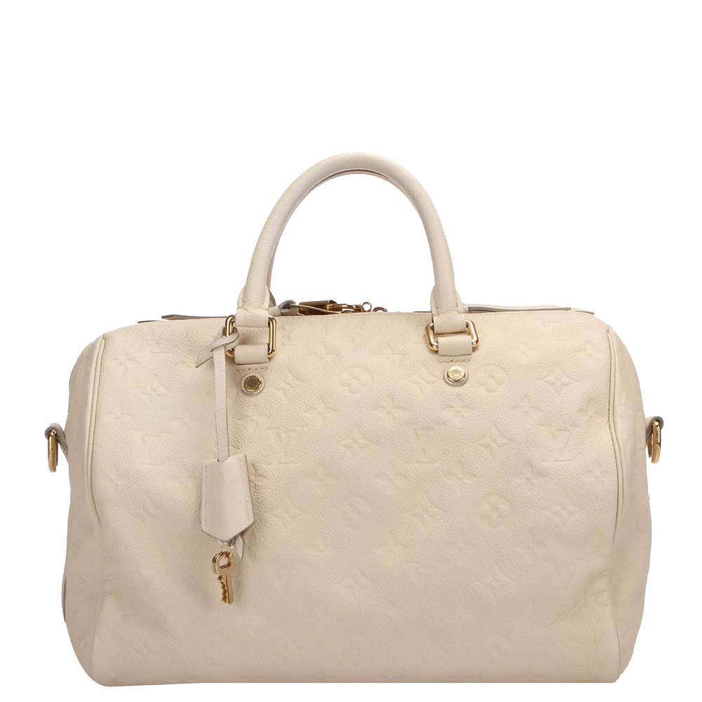 Louis Vuitton White Monogram Empreinte Speedy 30 Bag