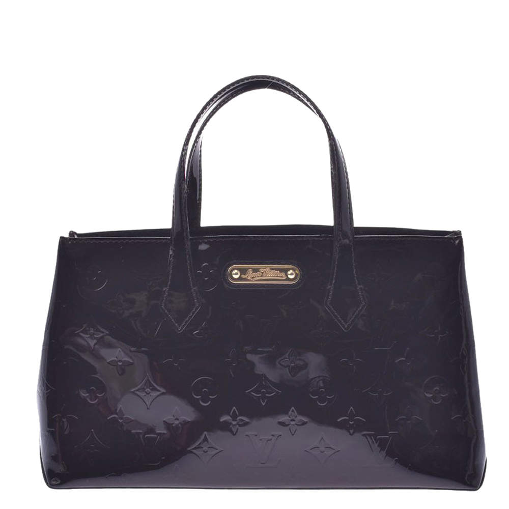 Louis Vuitton Black Monogram Vernis Wilshire PM Bag