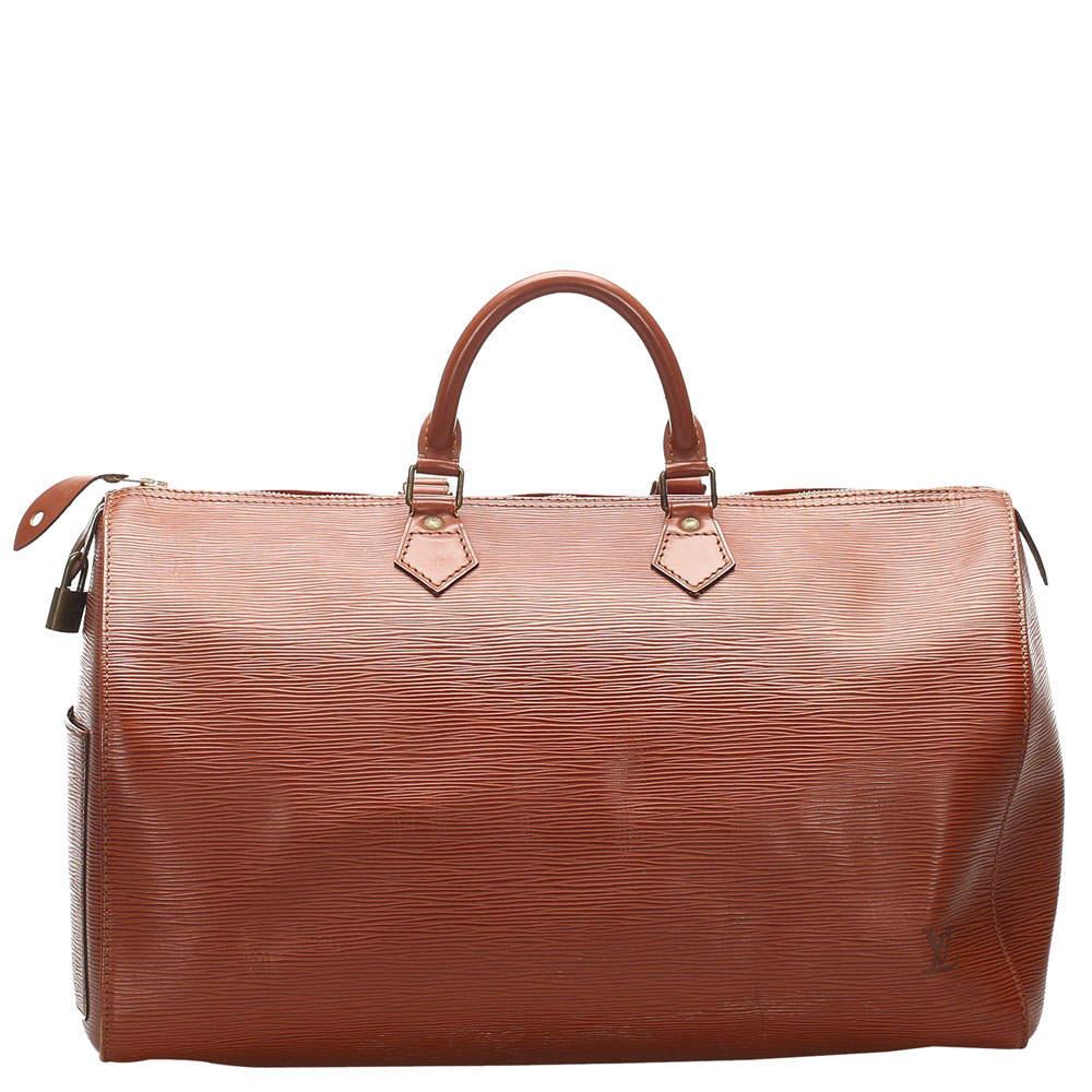 Louis Vuitton Brown Epi Leather Speedy 40 Bag