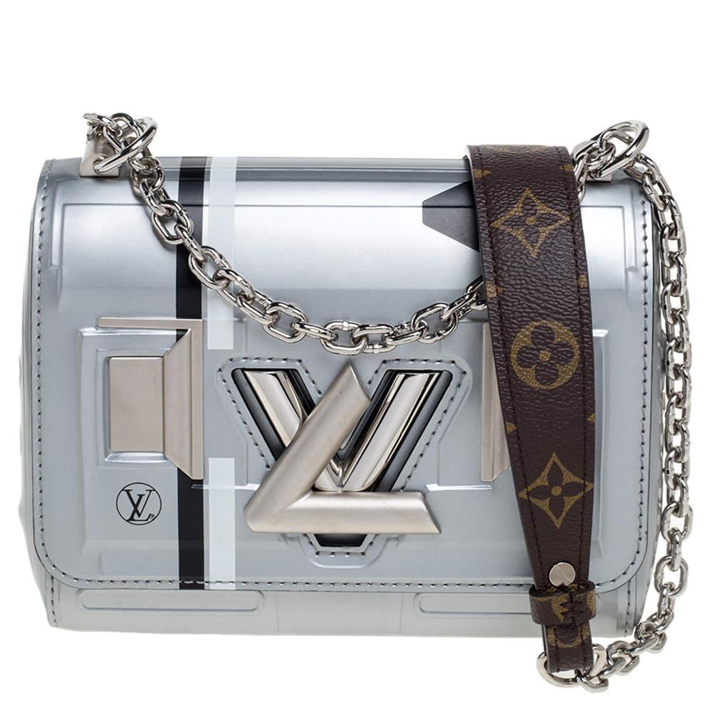 Louis Vuitton Grey Leather Space Argent Twist PM Bag