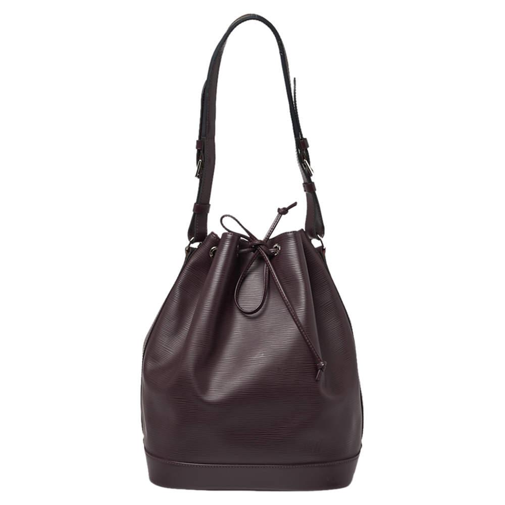 Louis Vuitton Maroon Epi Leather Noe Bag