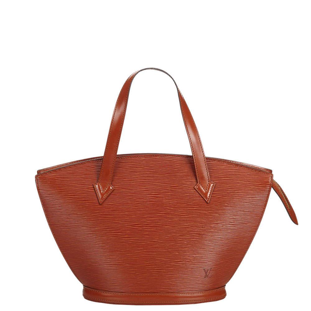 Louis Vuitton Brown Epi Leather Saint Jacques Short Strap PM Bag