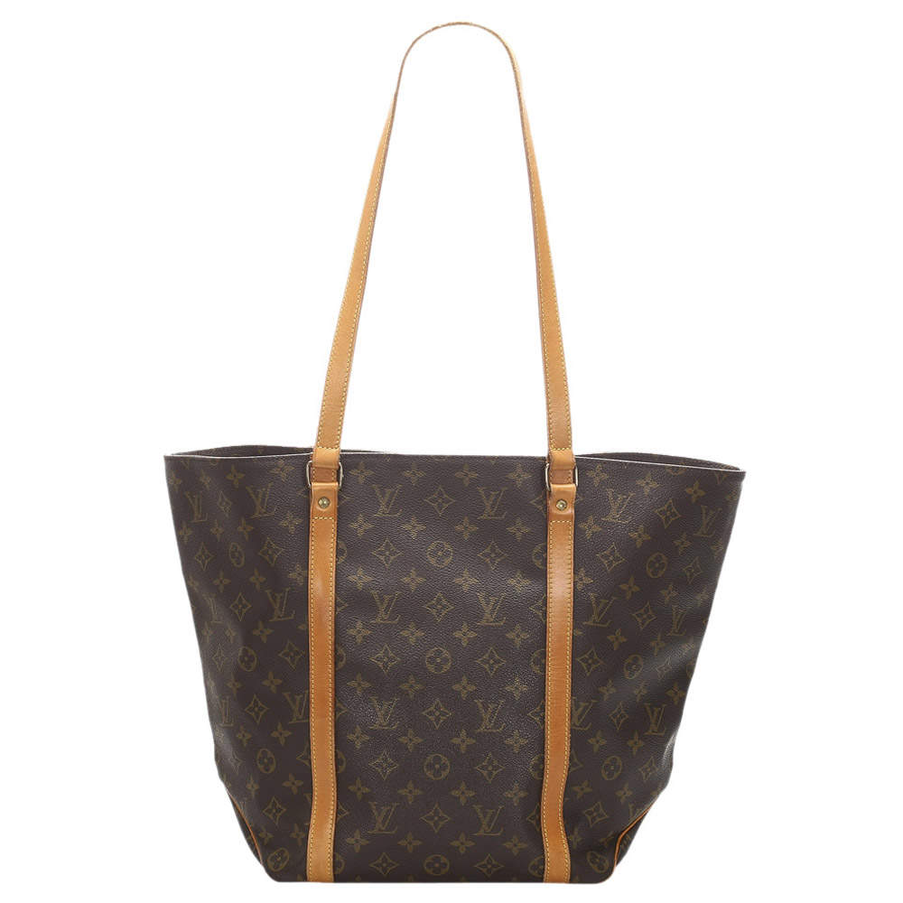Louis Vuitton Brown Monogram Canvas Sac Shopping 48 bag