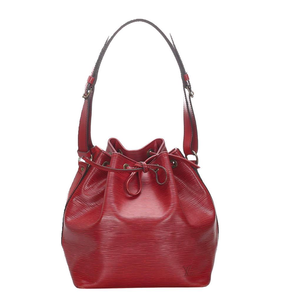 Louis Vuitton Red Epi Leather Petit Noe Bag