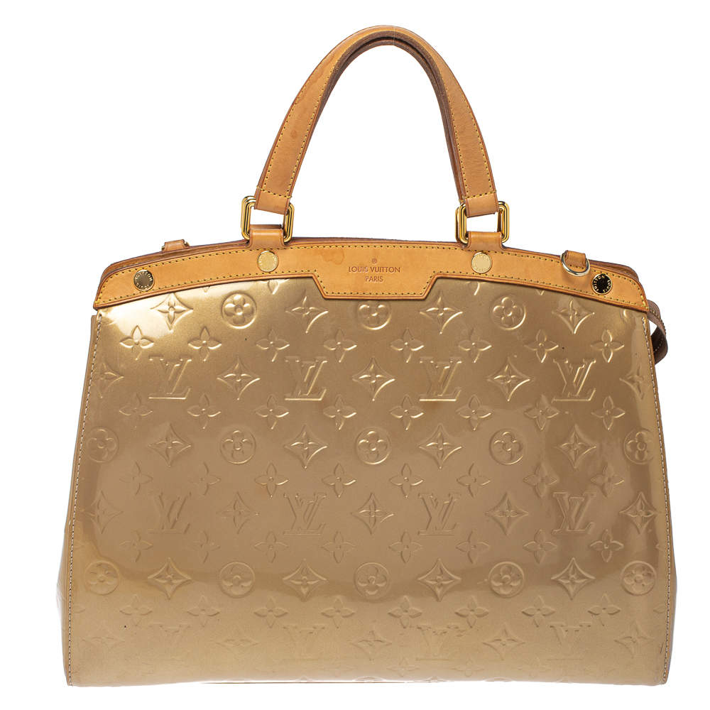 Louis Vuitton Beige Poudre Monogram Vernis Brea GM Bag