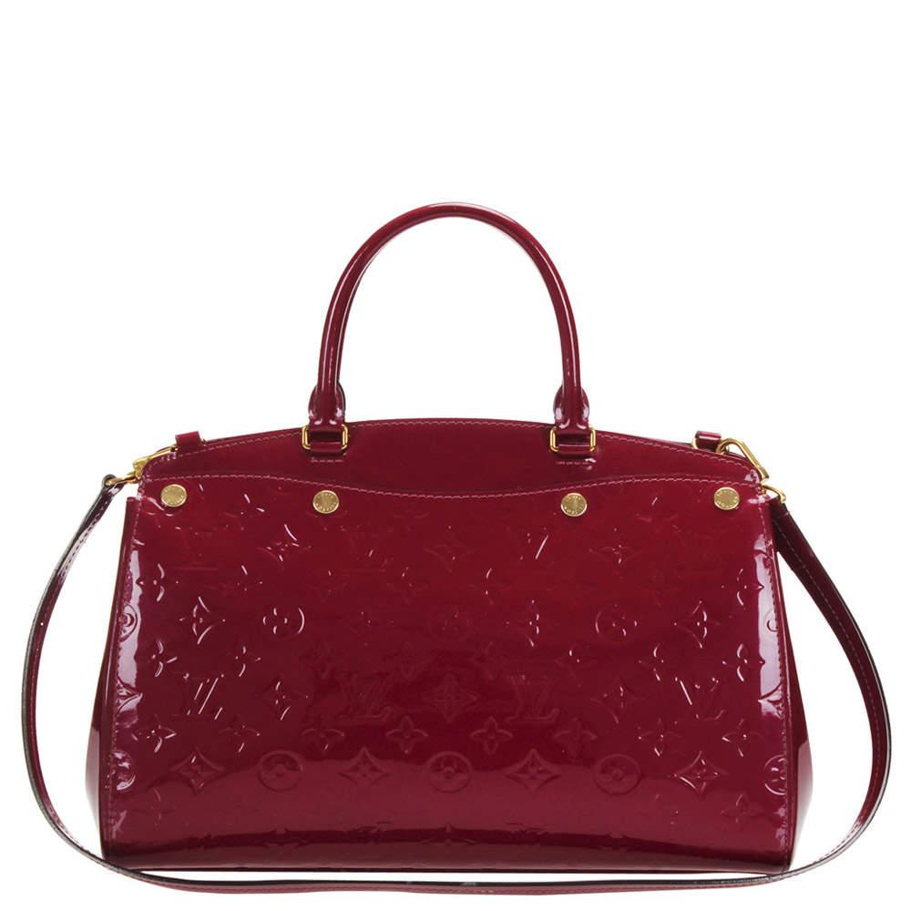 Louis Vuitton Red Monogram Vernis Brea MM bag