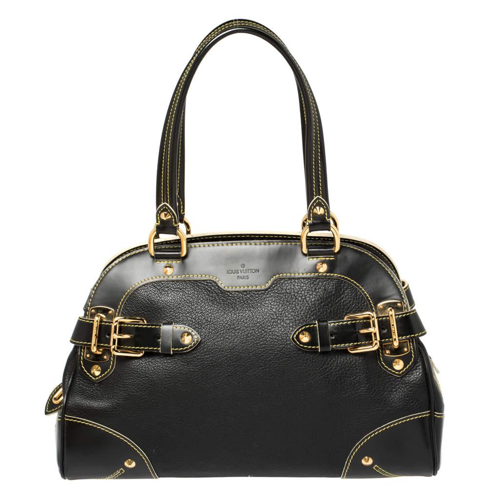 Louis Vuitton Black Suhali Leather Le Radieux Bag