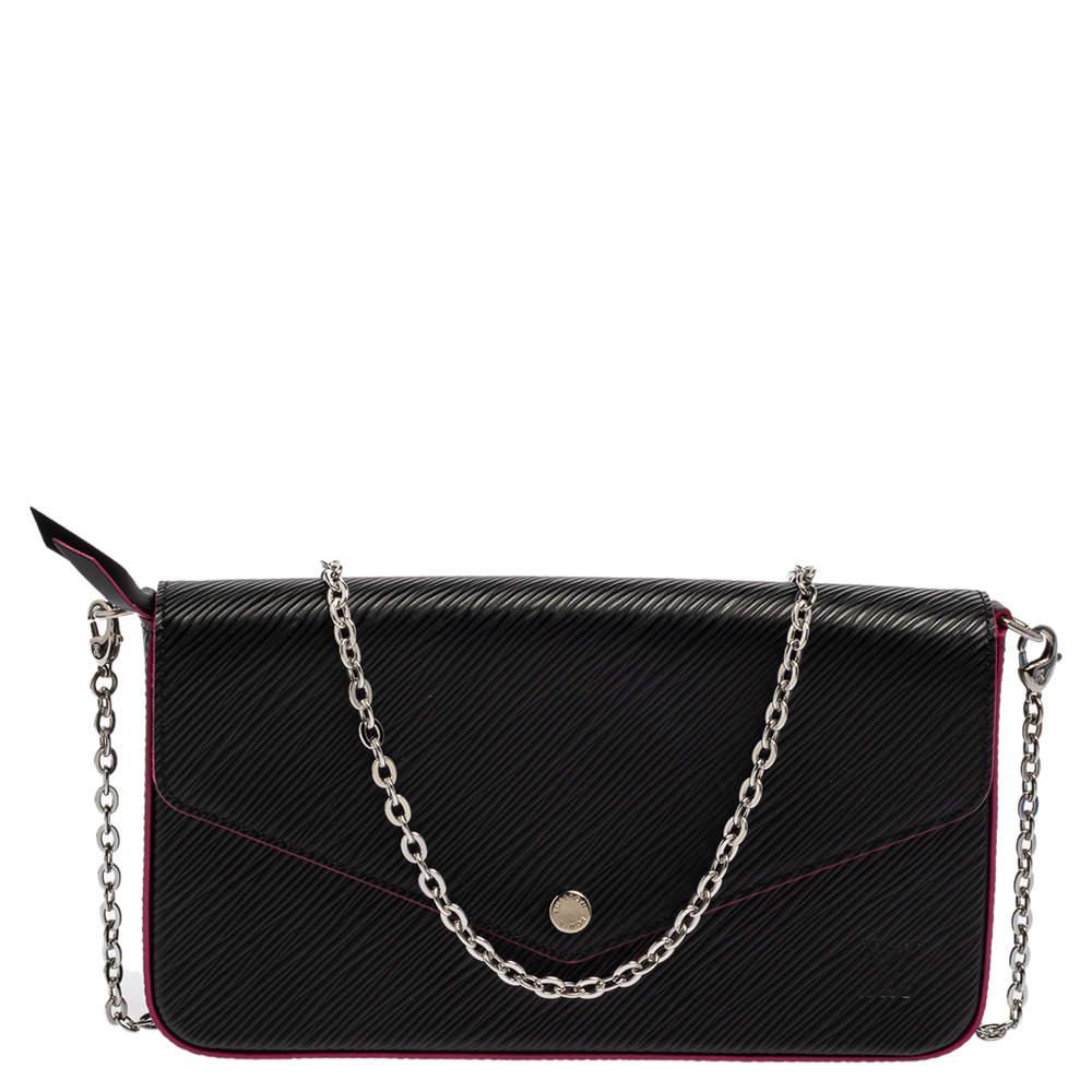 حقيبة لوي فيتون فليسي صغيرة جلد أيبي سوداء.