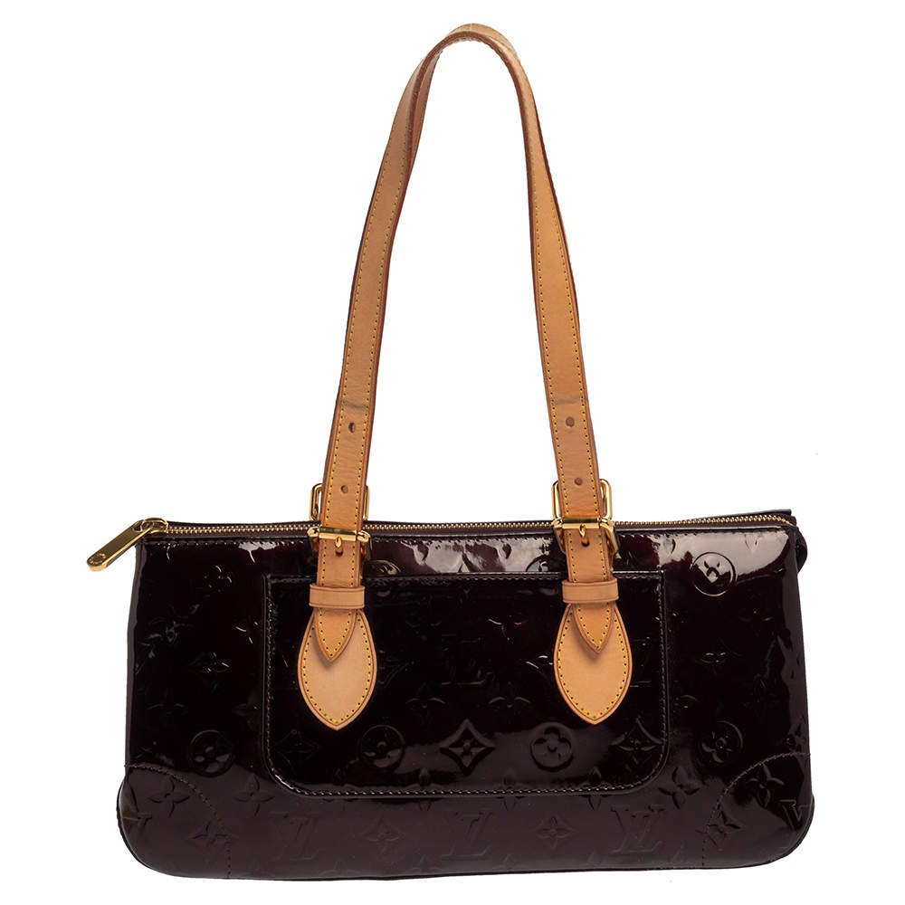 Louis Vuitton Amarante Monogram Vernis Rosewood Avenue Bag