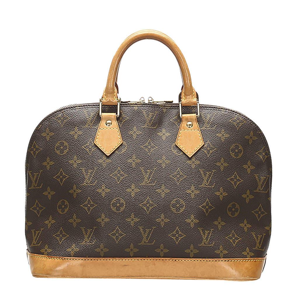 Louis Vuitton Brown Monogram Canvas Alma PM Bag