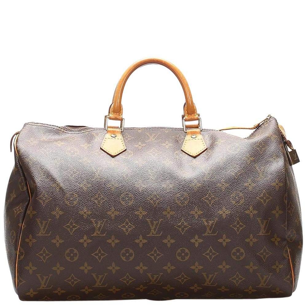 Louis Vuitton Brown Monogram Canvas Speedy 40 bag
