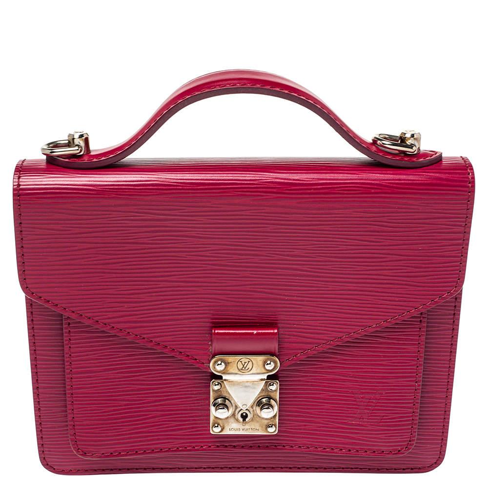 Louis Vuitton Fuchsia Epi Leather Monceau BB Bag