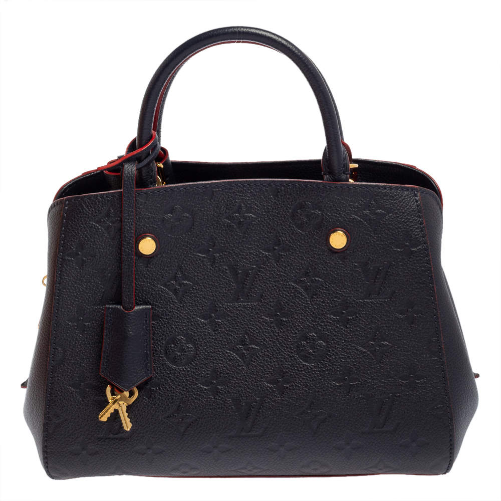 Louis Vuitton Marine Rouge Monogram Empreinte Leather Montaigne BB Bag