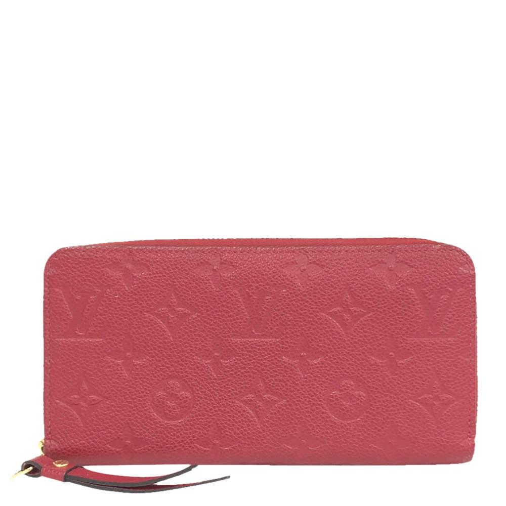 Louis Vuitton Red Monogram Empreinte Leather Zippy Wallet