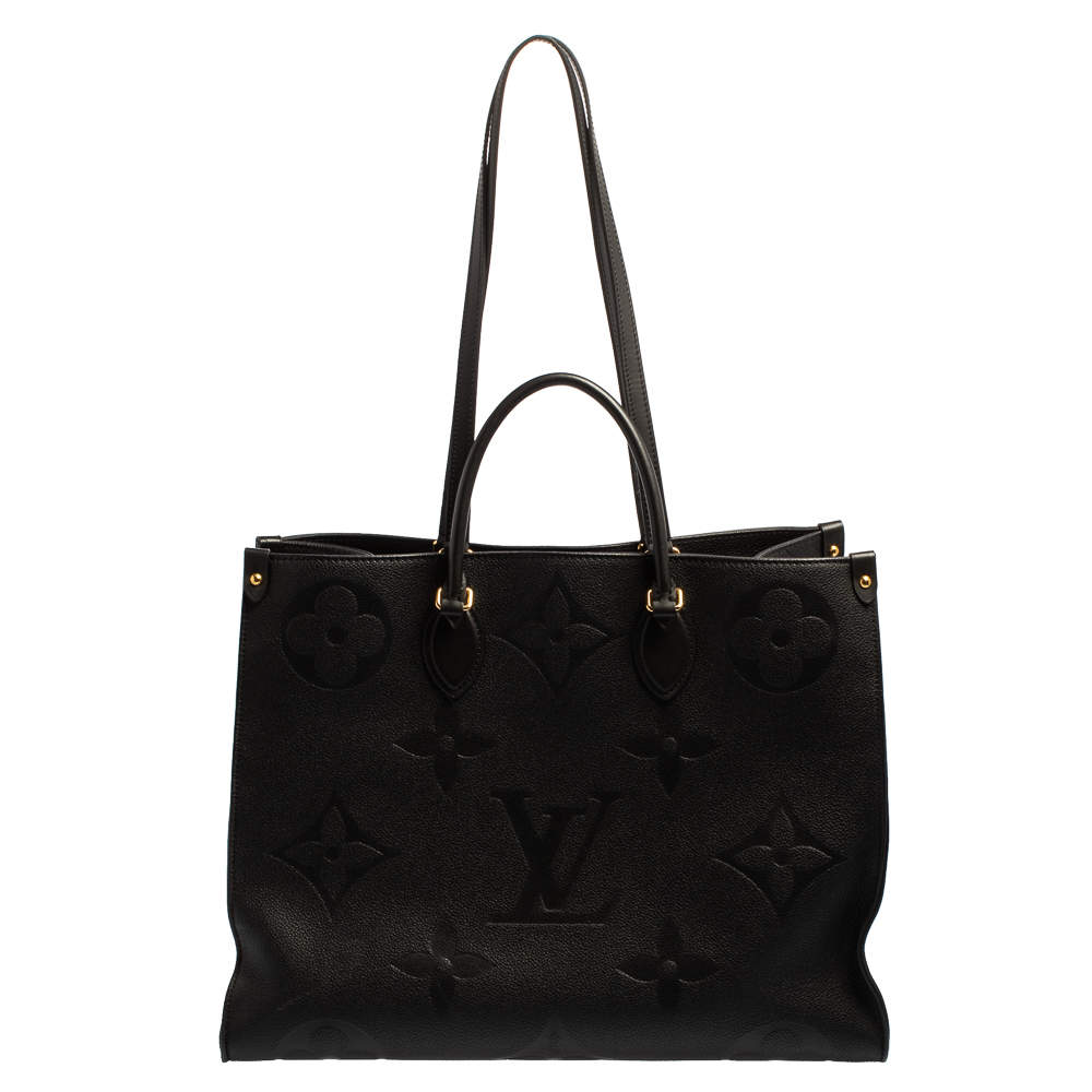 Louis Vuitton Black Monogram Empreinte Leather Onthego GM Bag