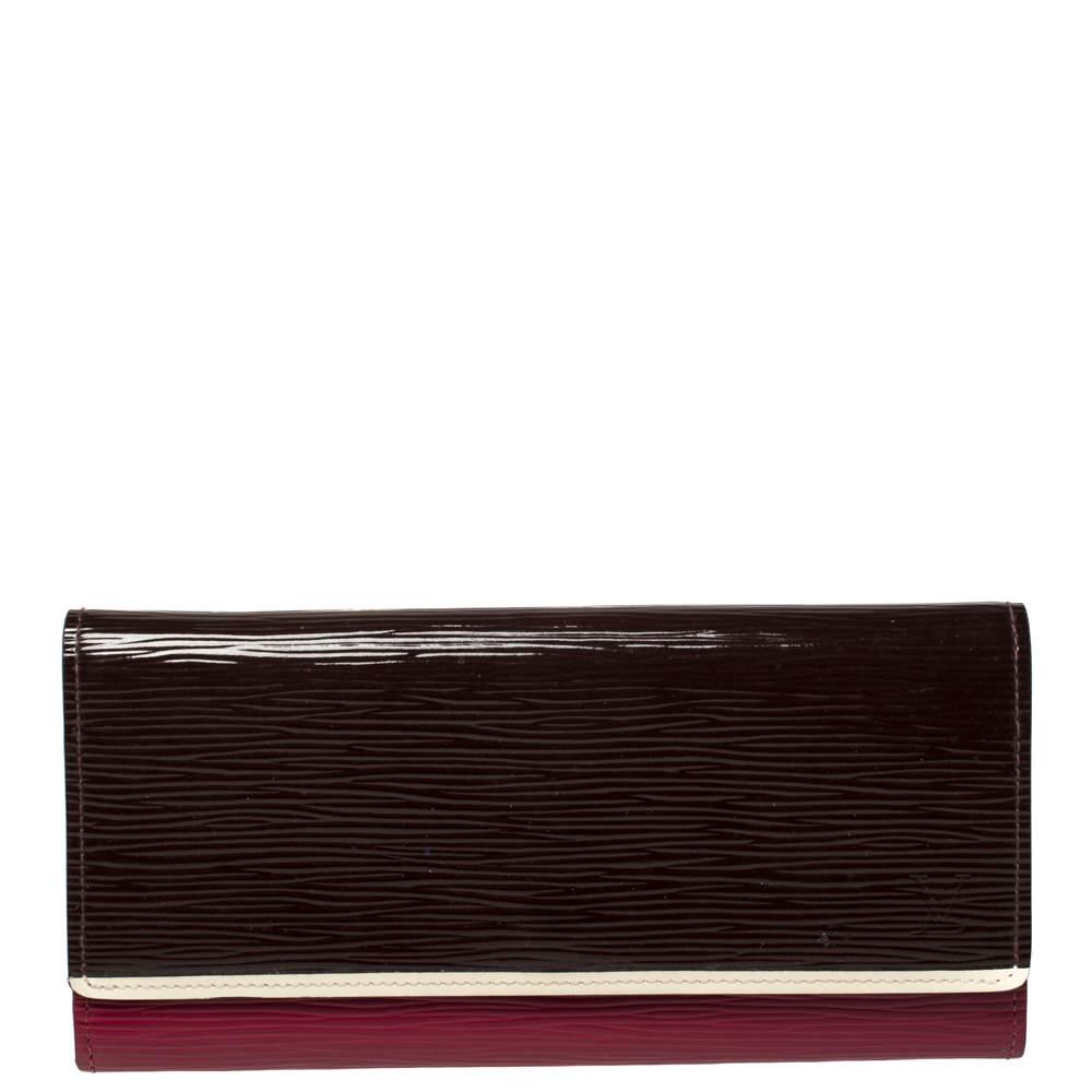 Louis Vuitton Brown/Red Epi Leather Flore Wallet