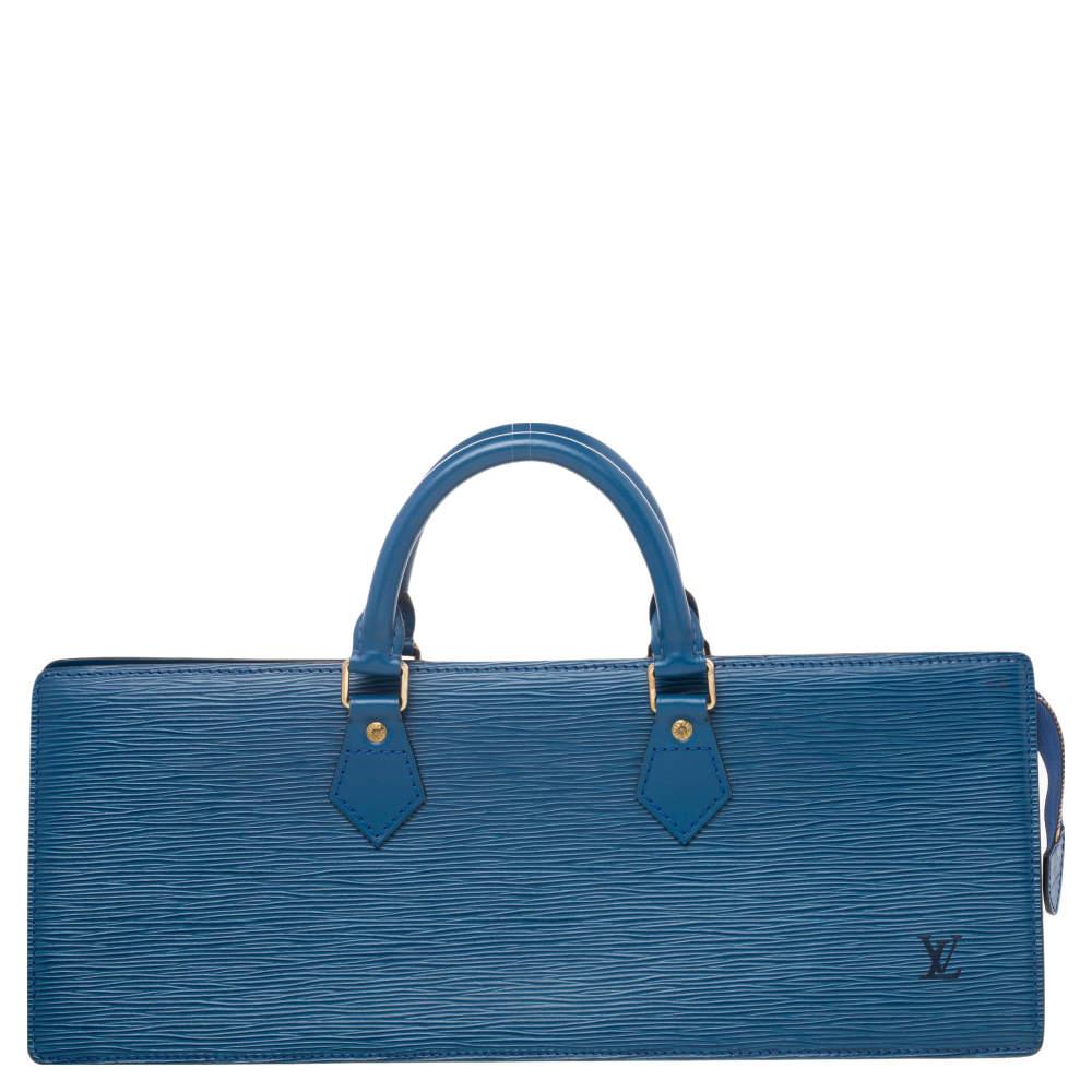 Louis Vuitton Toledo Blue Epi Leather Vintage Sac Triangle Bag