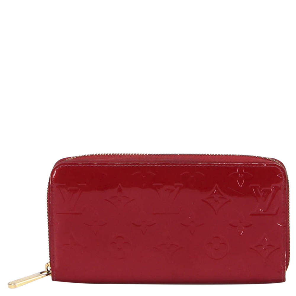 Louis Vuitton Red Leather Long Wallet