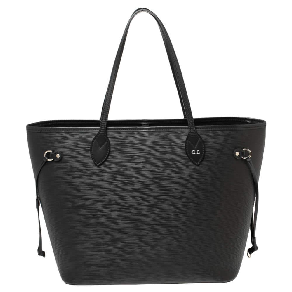 Louis Vuitton Black Epi Leather Neverfull MM Bag