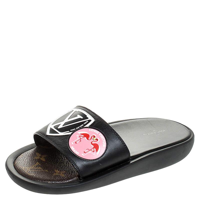 Louis Vuitton Black Leather LV Flamingo