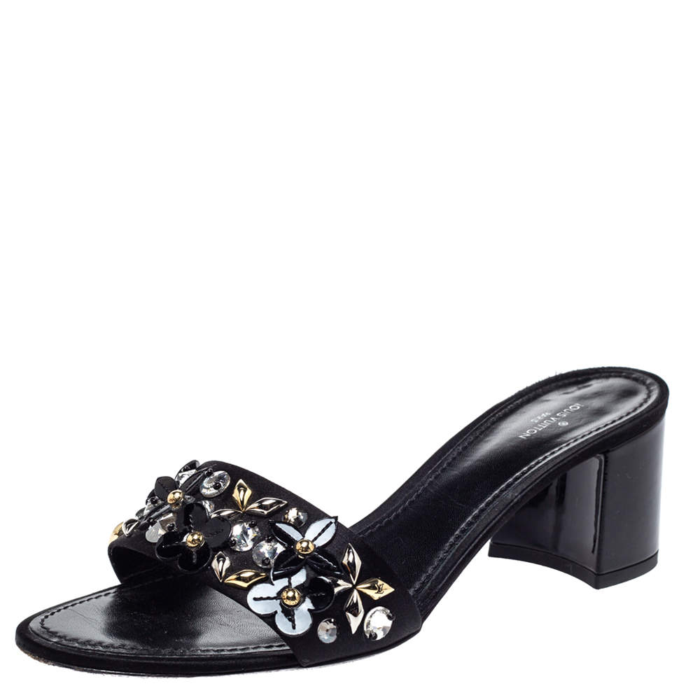 Louis Vuitton Black Satin Applique