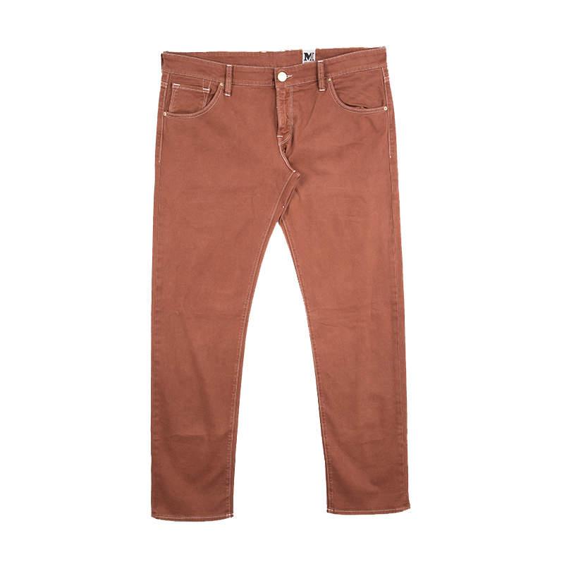 بنطلون جينز أم ميزوني دينم برتقالي داكن قصة مستقيمة L