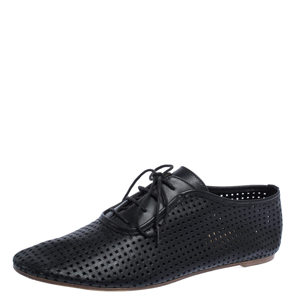 Maison Martin Margiela Perforated Leather Lace Low Top Sneakers Size 37