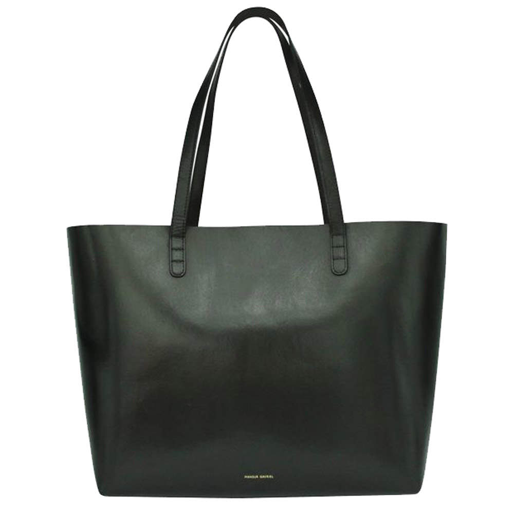 Mansur Gavriel Black Argento Leather    Totes