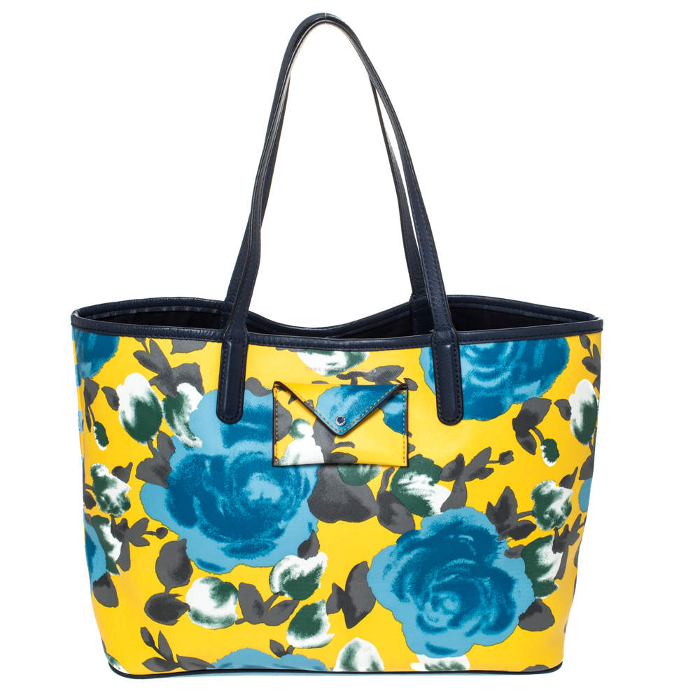 Marc by Marc Jacobs Multicolor Floral Print Coated Canvas Tote