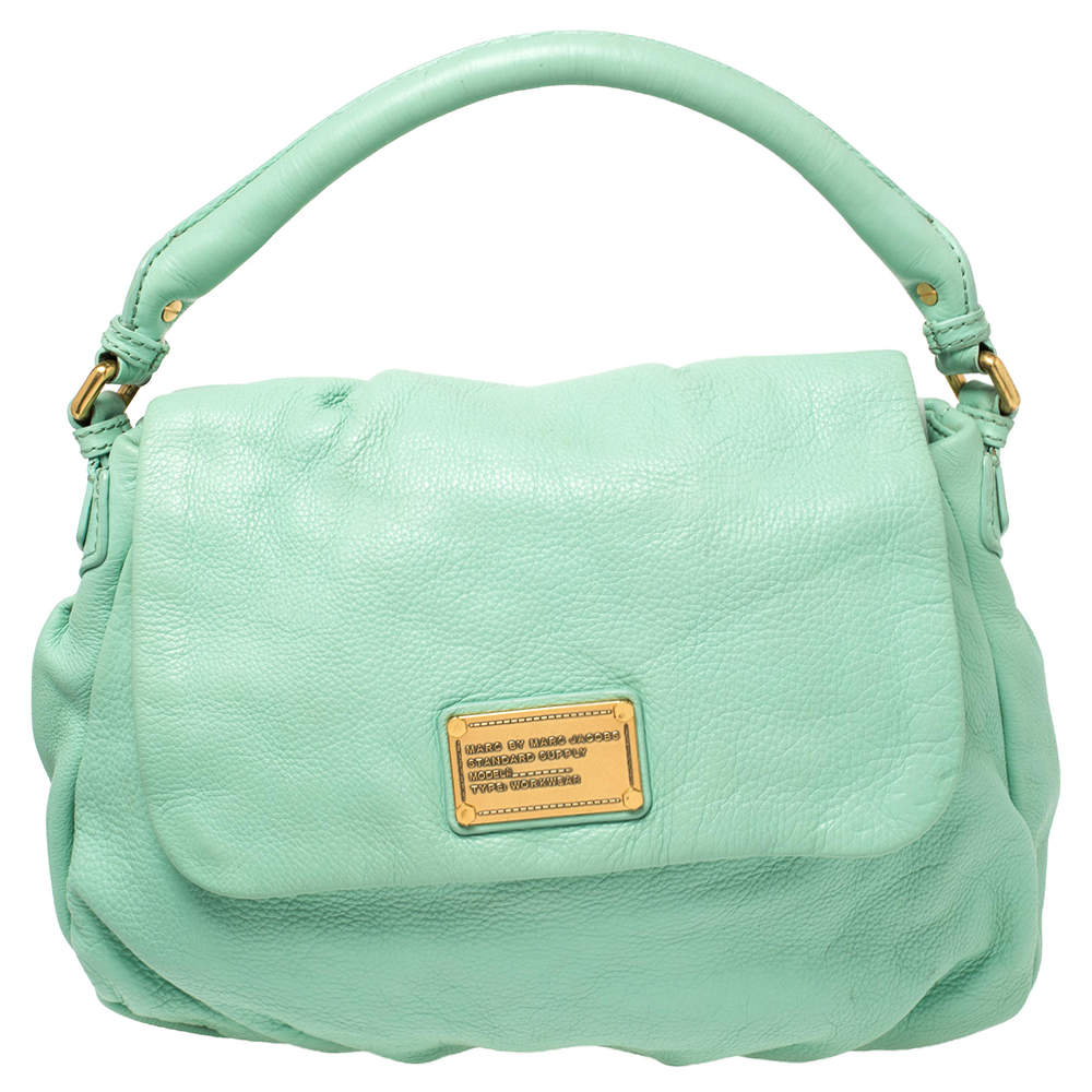 Marc by Marc Jacobs Green Leather Classic Q Lil Ukita Top Handle Bag