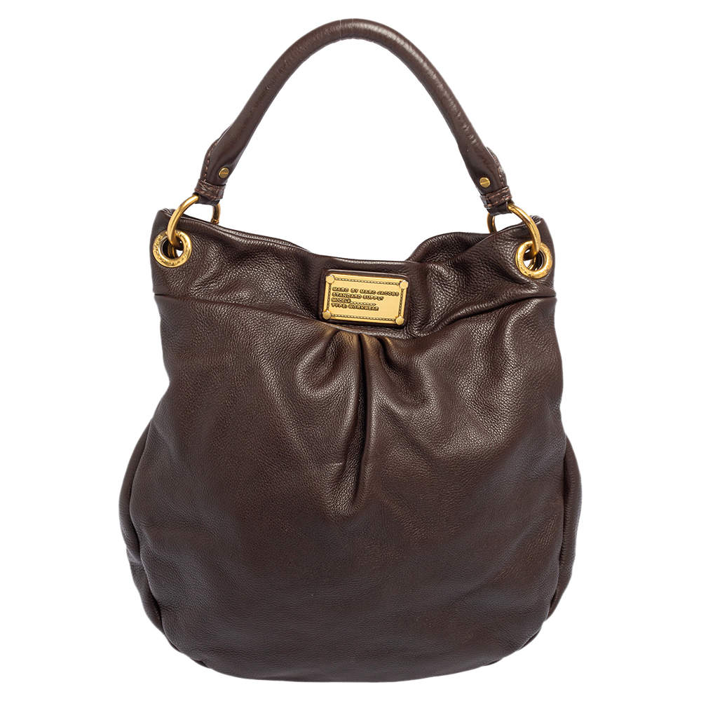 Marc by Marc Jacobs Chocolate Brown Leather Classic Q Hillier Hobo