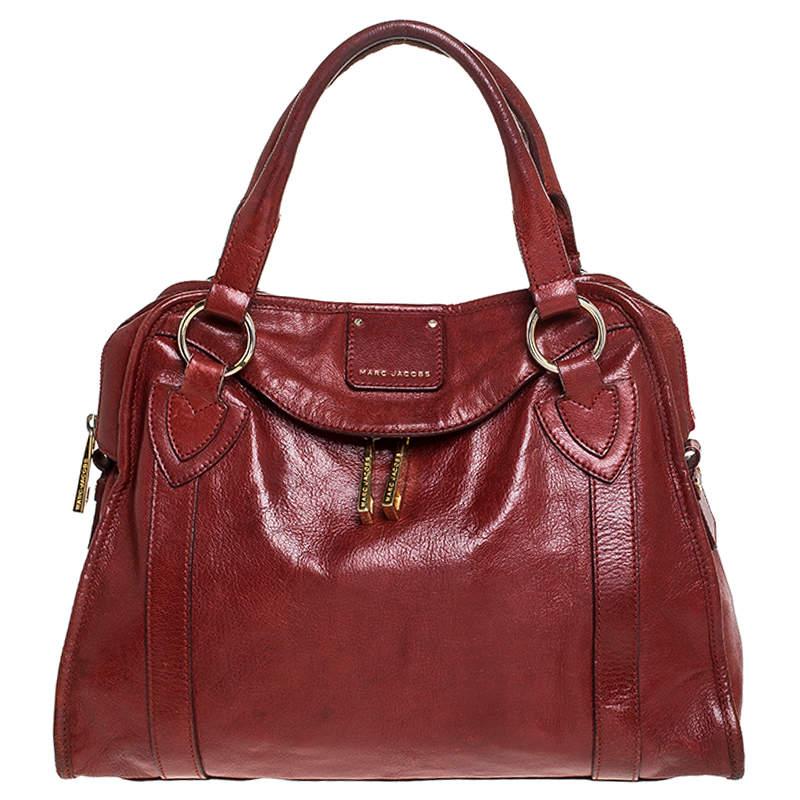 Marc Jacobs Red Leather Wellington Fulton Satchel