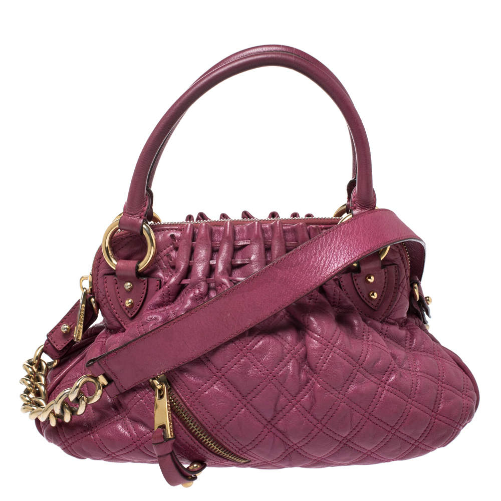 Marc Jacobs Pink Quilted Leather Cecilia Satchel