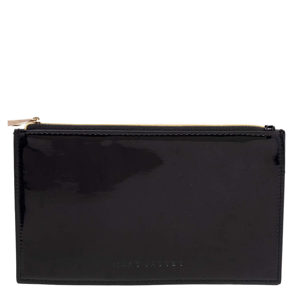 Marc Jacobs Black Patent Leather Pouch