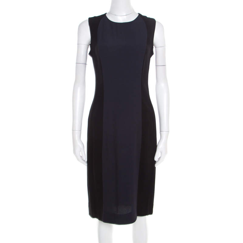 Marni Colorblock Sleeveless Crepe Dress M