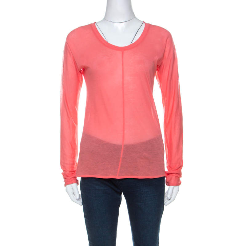 Marni Coral Knit Long Sleeve T-Shirt S