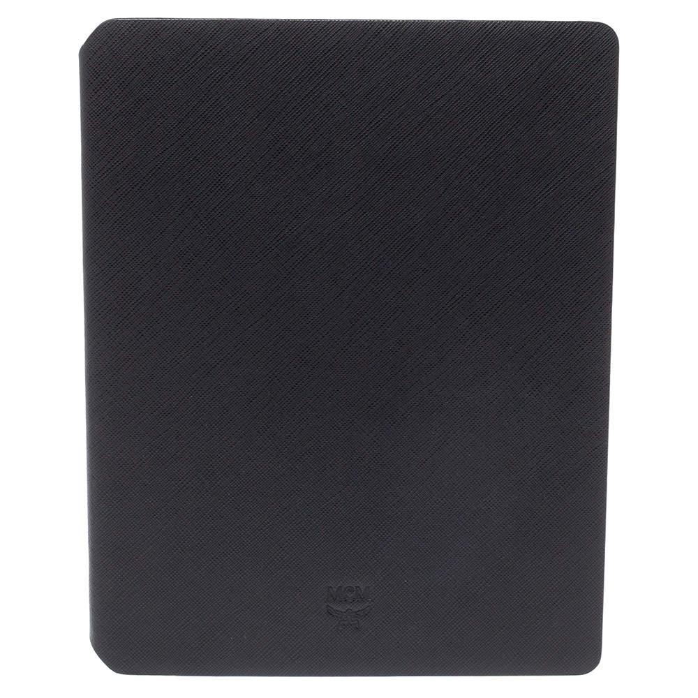 MCM Black Saffiano Leather Elda Ipad Case