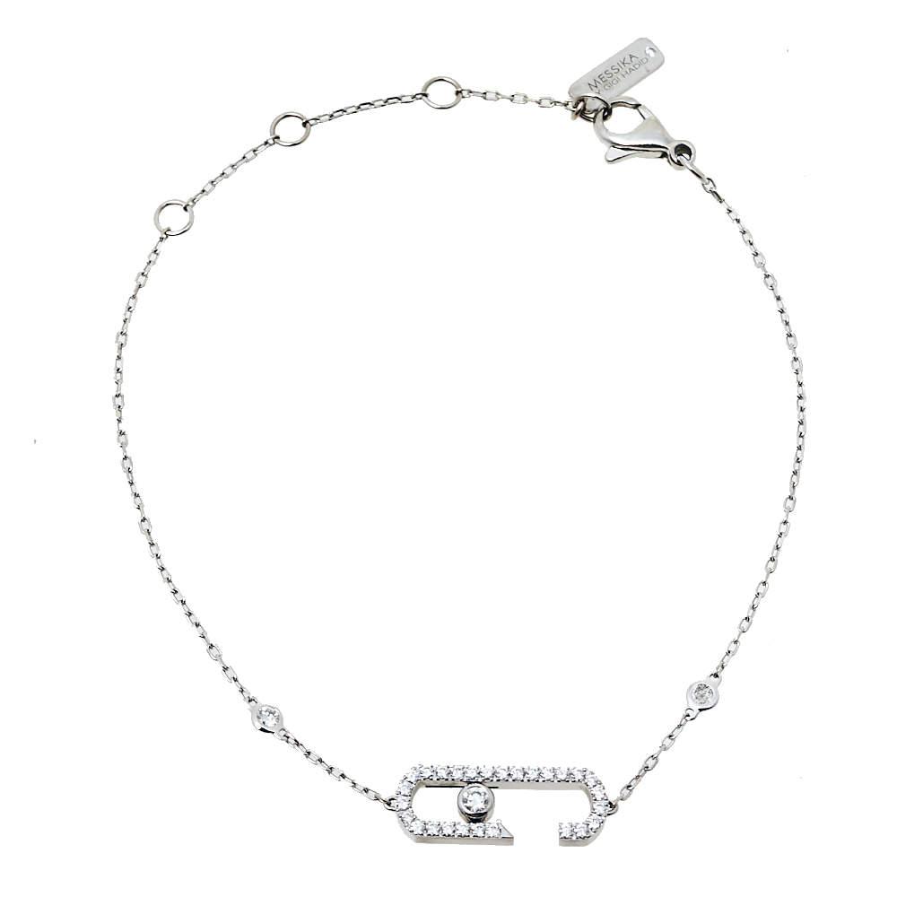 Messika Move Addiction by Gigi Hadid Diamond 18K White Gold Bracelet