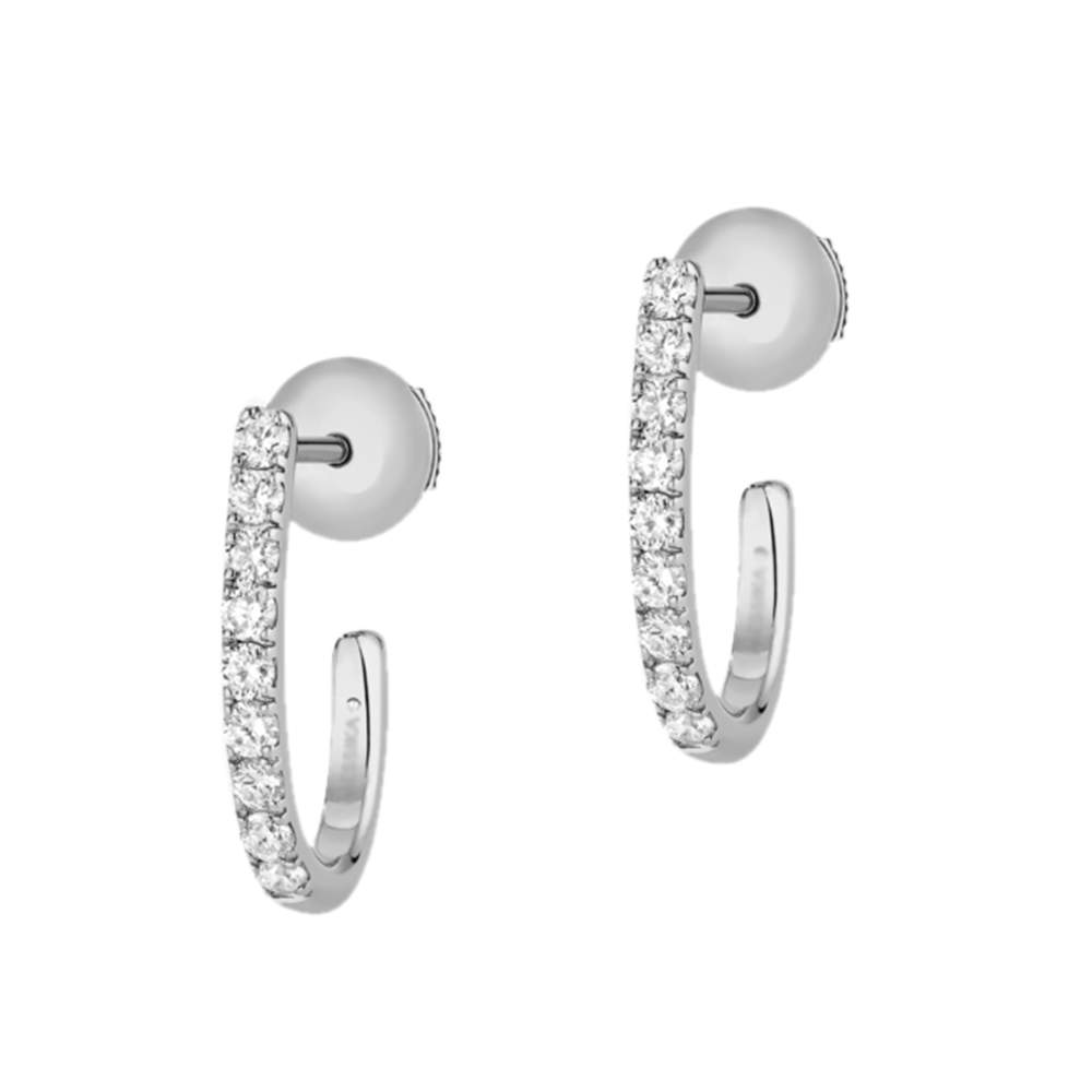 Messika 18ct White Gold and Diamond Gatsby Hoop Earrings
